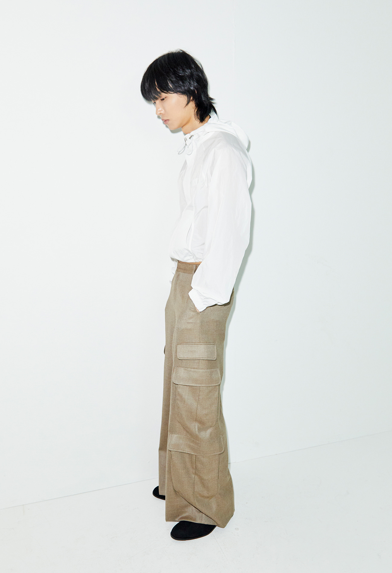 Wide leg pocket pants