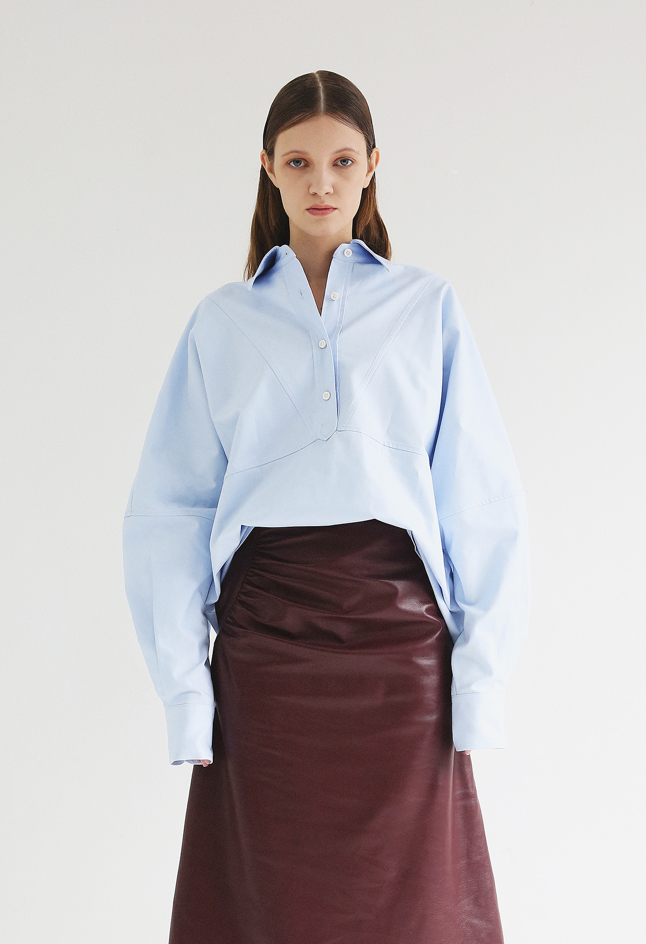 Oversized Oxford Shirt (Blue)
