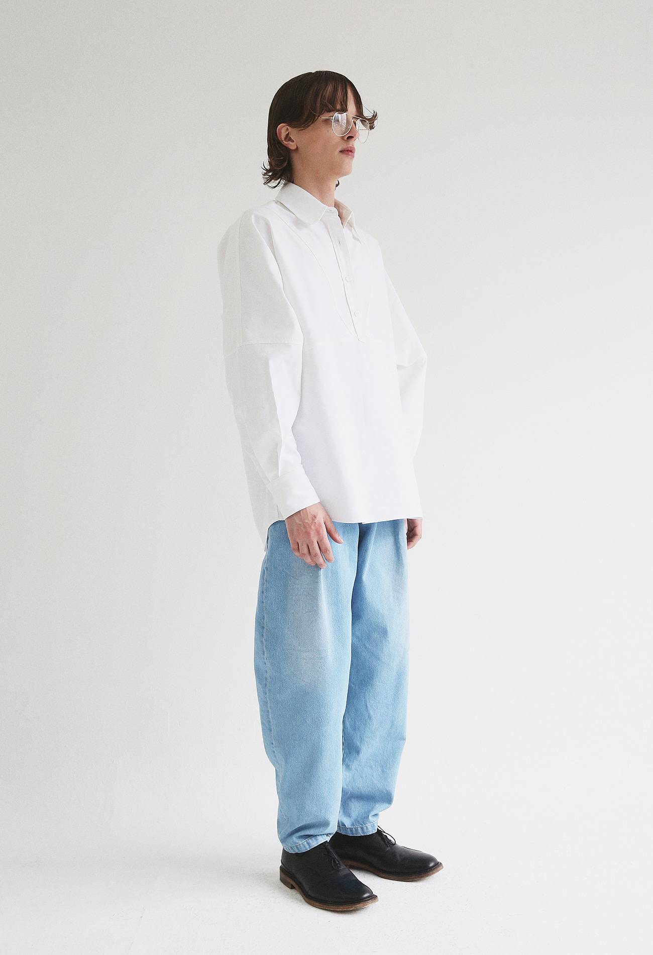 Oversized Oxford Shirts (White)