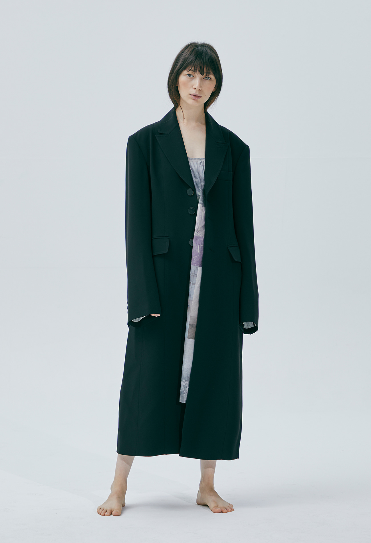 Classic long coat (Black)